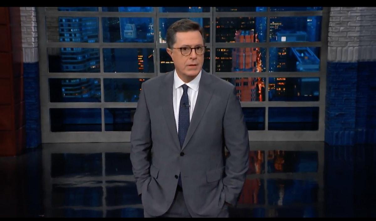 "Stephen Colbert Calls Trump's Anti-Transgender Memo Another Instance Of ""Random Cruelty"""