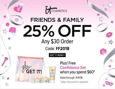 IT Cosmetics Friends & Family Sale