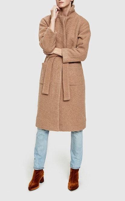 Fenn Long Wrap Coat in Chanterelle