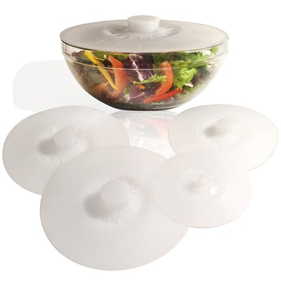 Perfect and Simple White Silicone Bowl Lids (5 Pack)