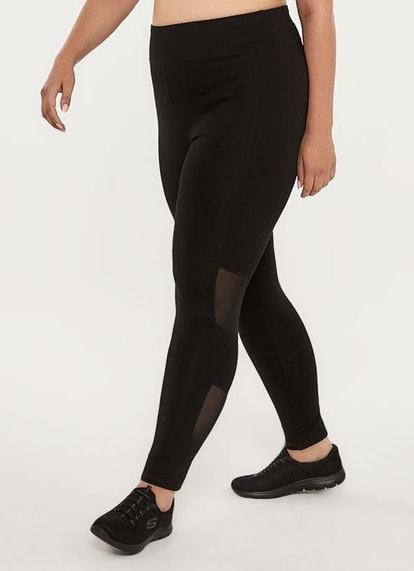 Plus Size Legging With Mesh