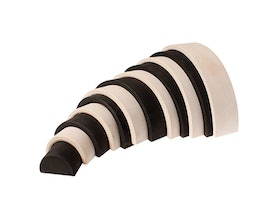 Large Wooden Black & White 12-Piece Tunnel (1+)