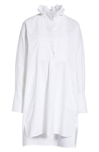 Milena Ruffle Neck Shirt Dress