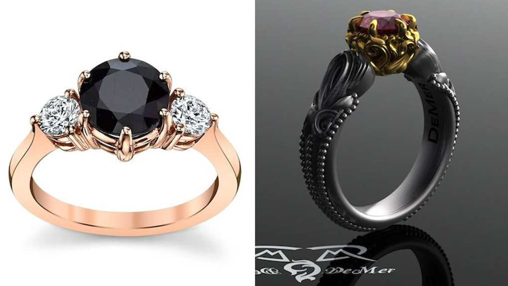13 Spooky Engagement Rings You'll Hallo-Scream For This