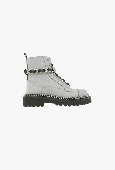 Ranger Army Glittered Ankle Boots