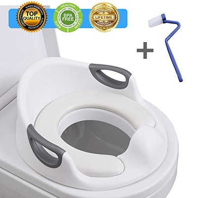 Potty Training Seat With Handles And Backrest