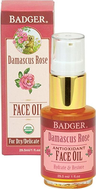 Badger Damascus Rose Face Oil