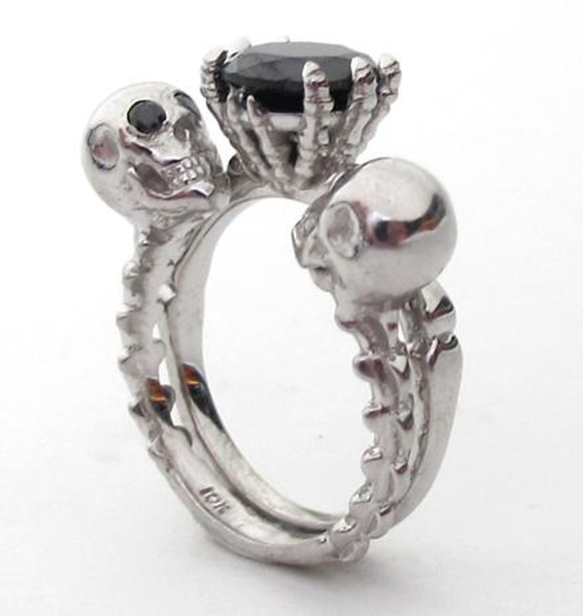 Till Death Do Us Part - Black Diamond Engagement Ring