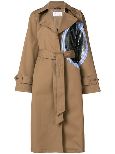 Patch Trench Coat