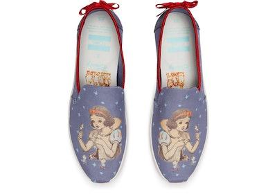 Disney X TOMS Blue Snow White Bow Women's Deconstructed Alpargatas