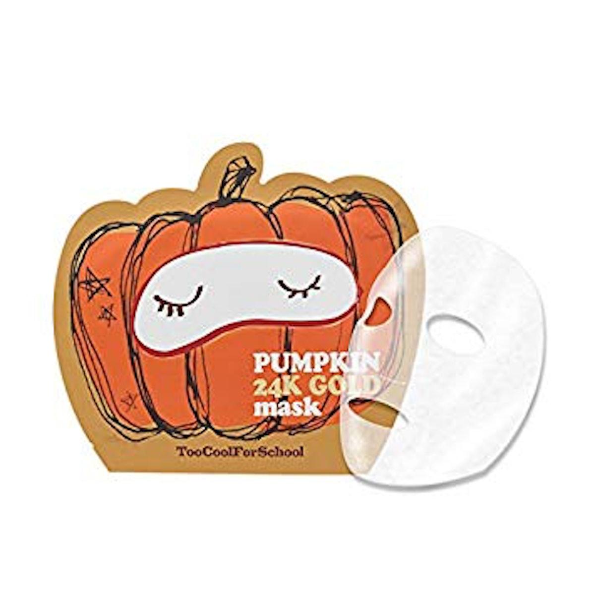 Too Cool For School Pumpkin 24K Gold Sheet Mask