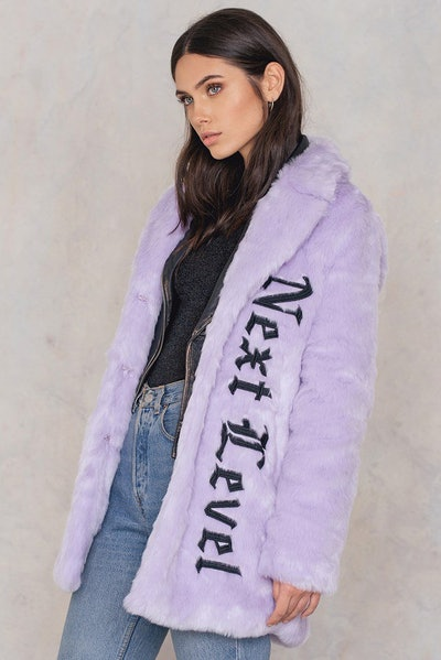 Faux Fur Embroidery Coat