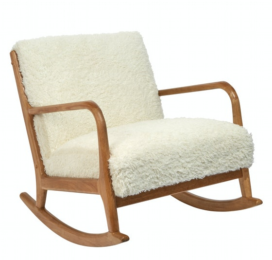 Project 62 Esters Wood Arm Chair Sherpa