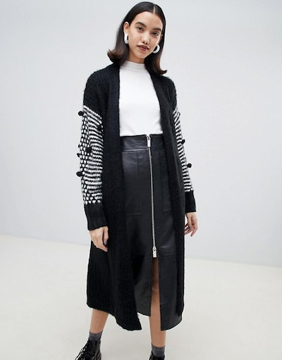 Lost Ink Oversized Belted Cardigan
