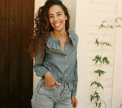 Jeanette Top in Blue Chambray