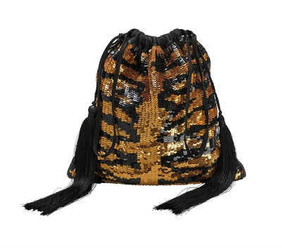 Tiger Sequin Pouch