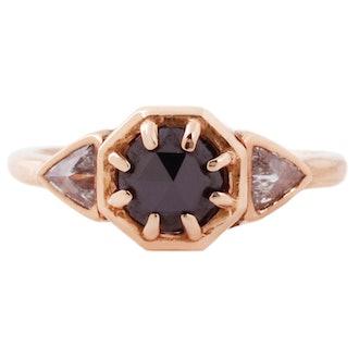 Lauren Wolf Jewelry Three Diamond Cleo