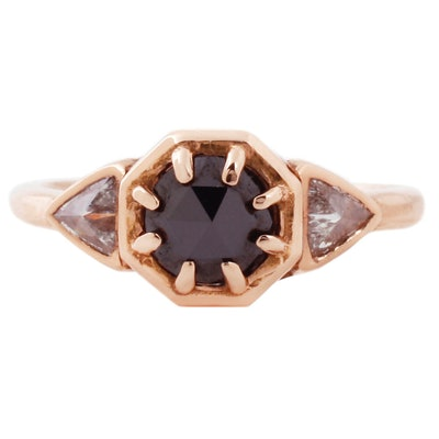 Lauren Wolf Jewelry Three Diamond Cleo