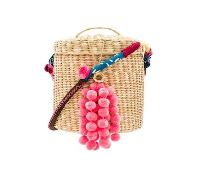 Nannacay The Ana Bucket Mini Pom Bag