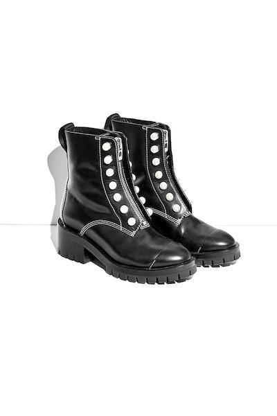 Hayett Lug Sole Pearl Boot
