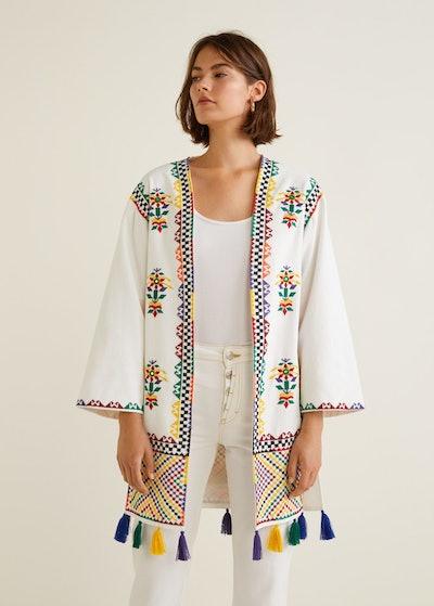 Pom Pom Embroidered Kaftan