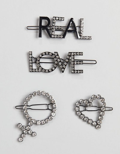 Liars & Lovers Set of 4 Symbol Diamante Hair Slides