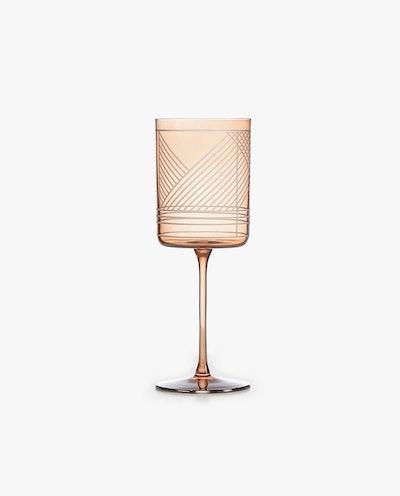 Geometric Design Wine Glass