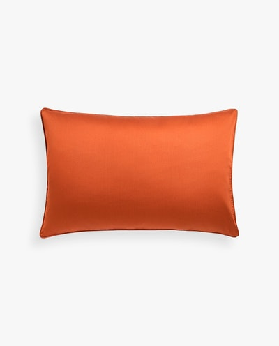 Terracotta Sateen Pillowcase With Piping