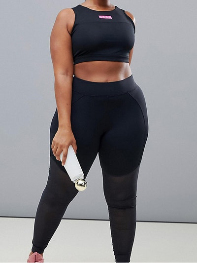 4505 Curve Legging With Over The Knee Power Mesh