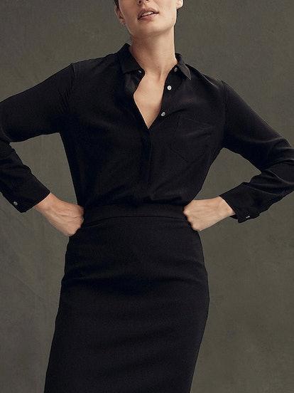 Silk Button-Up Shirt