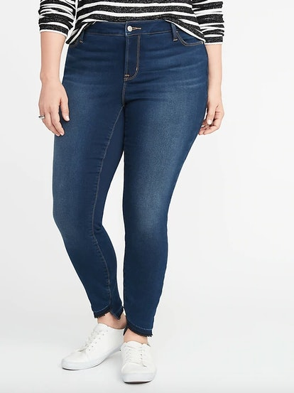 High-Rise Built-In Warm Rockstar Super Skinny Plus-Size Jeans
