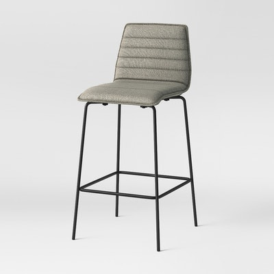 """30.625"""" Salk Modern Quilted Barstool - Herbal - Project 62"""
