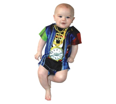 Baby Kids' Old Skool Rapper Romper Costume