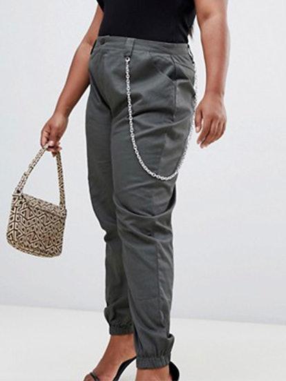 Chain Detail Cargo Pants