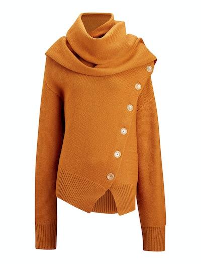 Draped Wool Cashmere Knit