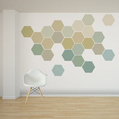 Ombre Honeycomb Wall Decals