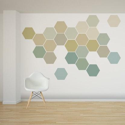Ombre Honeycomb Wall Decals