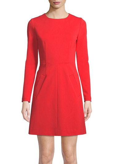 New Caprina Long Sleeve Jersey A-Line Dress
