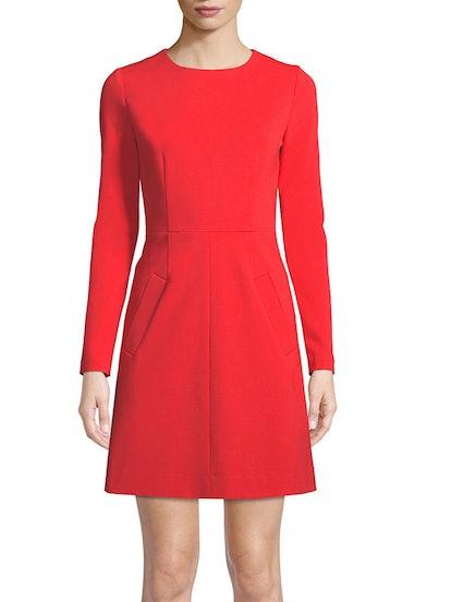 New Caprina Long Sleeve Jersey A-Line Dress