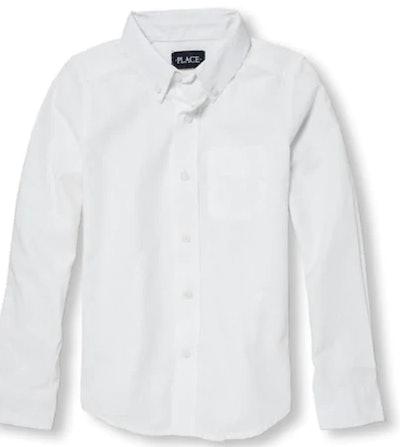 Boys Long Sleeve Oxford Button-Down Shirt