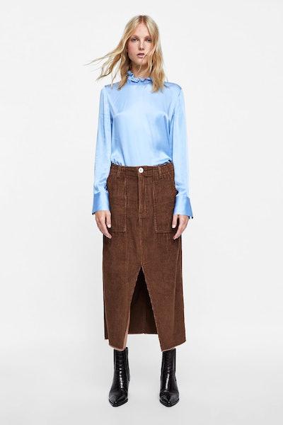 Premium Worker Brown Corduroy Skirt