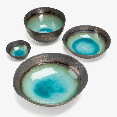abcDNA Mystic Glacier Bowls Turquoise