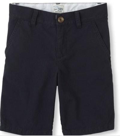 Boys Solid Woven Chino Shorts