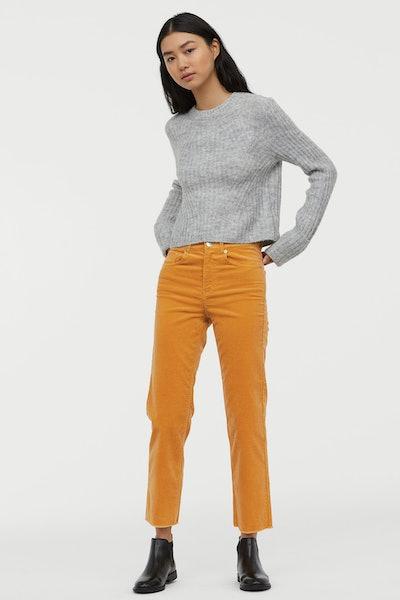 Ankle-Length Corduroy Pants
