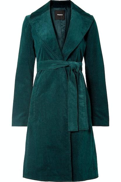 Cotton-Blend Corduroy Coat