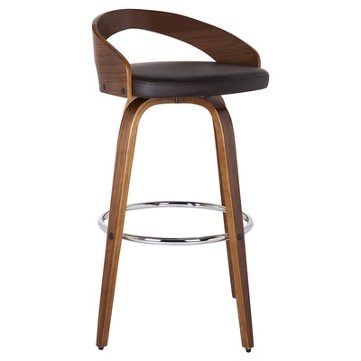 """Sonia 30"""" Faux Leather Barstool -Brown - Armen Living"""