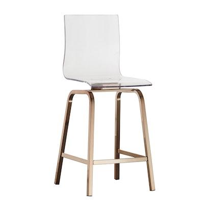 Alta Modern Metallic Counter Height Chair Champagne Gold - Inspire Q