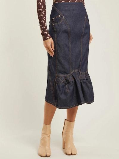 Sculpted Denim Skirt
