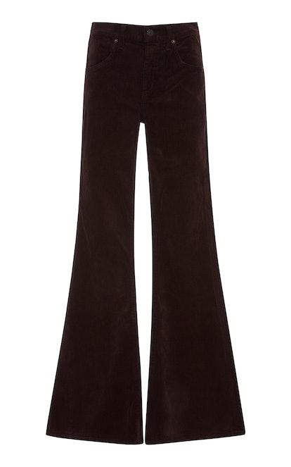 Chloe Corduroy Mid-Rise Flared Pants