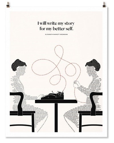 """I Will Write My Story For My Better Self"" Print"